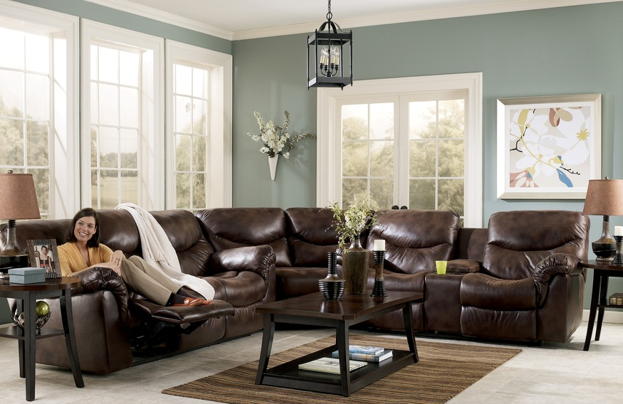 Reclining Sectionals Recliners Living Rooms House Beautiful